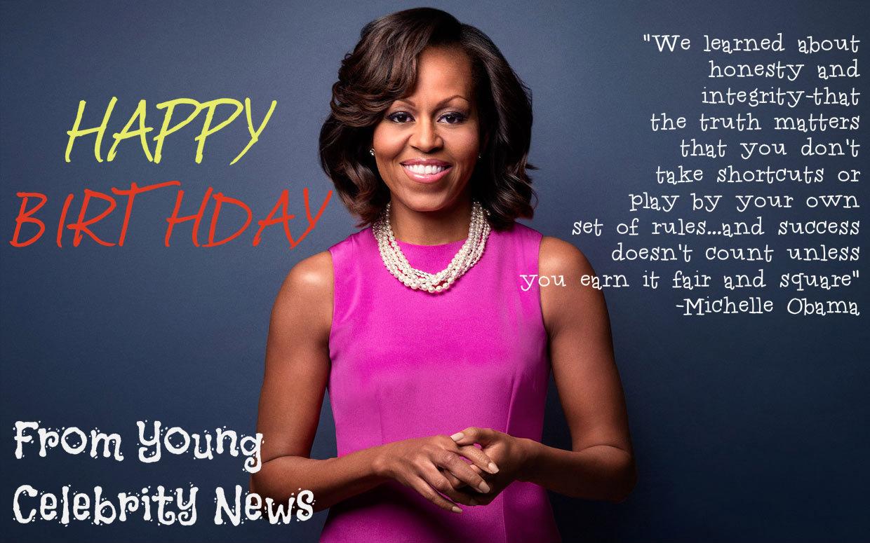 birthday Michelle obama